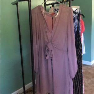 Sheer purple dress